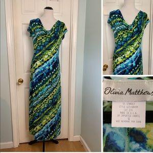🍄 Olivia Matthews Maxi Dress. Size S